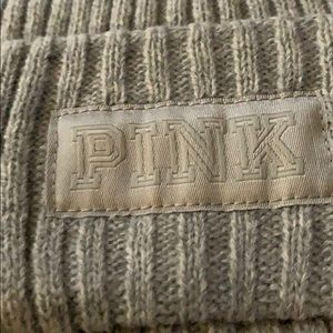 PINK Victoria's Secret Accessories - Pink - gray scarf and hat